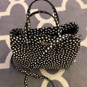 🆕Kate Spade ♠️ Black & White Polka Dot Handbag